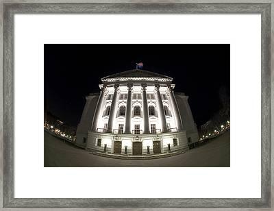 Fisheye Capitol Framed Print