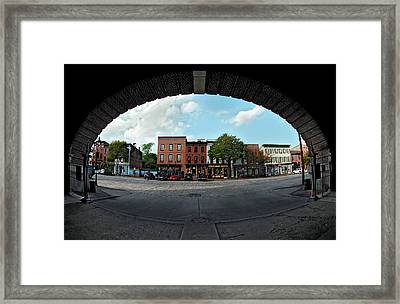Fisheye Shops  Framed Print