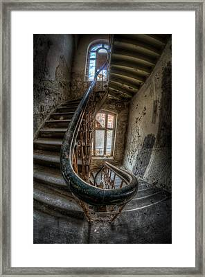 Fisheye Stairs Framed Print by Nathan Wright