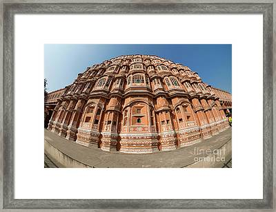 Framed Print featuring the photograph Fisheye View Of Hawa Mahal by Yew Kwang