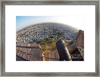 Framed Print featuring the photograph Fisheye View Of Jodhpur by Yew Kwang