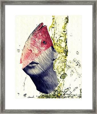 Fishhead Framed Print