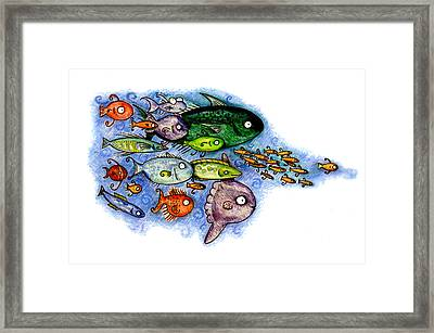 Fishies Framed Print by Kirsten Carlson