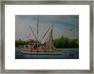 Fishin' Boat Framed Print by Tabitha Marshall
