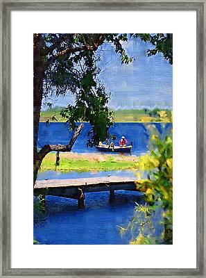 Framed Print featuring the photograph Fishin by Donna Bentley