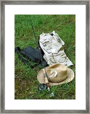 Fishin' Gear Framed Print by Linda A Waterhouse