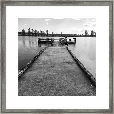 Fishin Framed Print by Mike Wielgopolski