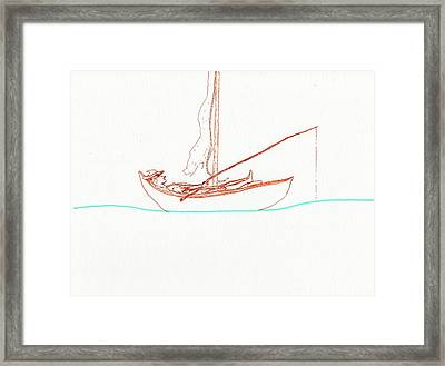 Fishin My Life Away Framed Print