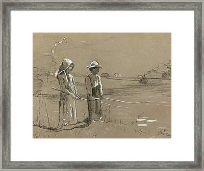 Fishing 2 Framed Print