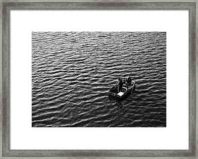 Framed Print featuring the photograph Fishing by Adrian Pym