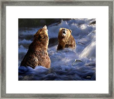 Fishing Alaska Framed Print by Bill Stephens