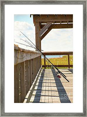 Fishing At Shem Creek Framed Print