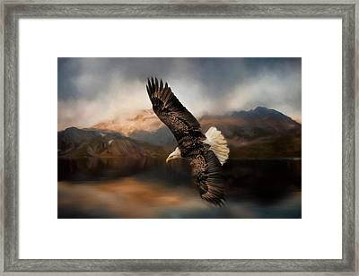 Fishing At The Mount Framed Print