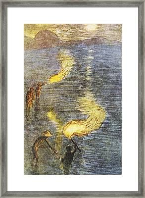 Fishing At Twilight Framed Print by Hawaiian Legacy Archive - Printscapes