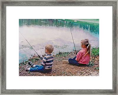 Fishing At Watkins Mill Framed Print