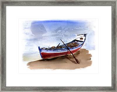 Fishing Boat Framed Print by Anselmo Albert Torres