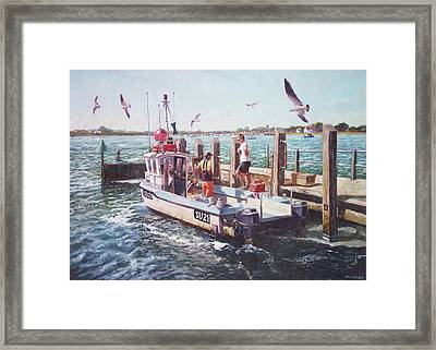 Fishing Boat At Mudeford Quay Framed Print