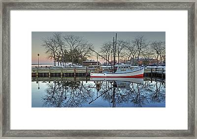 Fishing Boat At Newburyport Framed Print