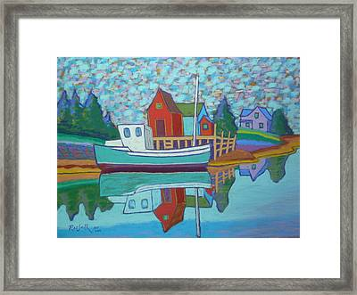 Fishing Boat At Tanners Pass Framed Print