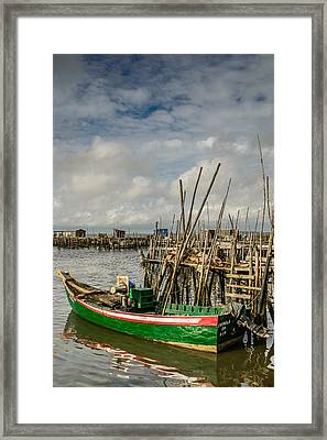 Fishing Boat At The Dock II Framed Print by Marco Oliveira