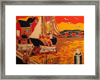 Fishing Boat Framed Print by Biagio Civale