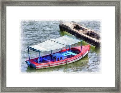 Fishing Boat Framed Print by Dawn Currie