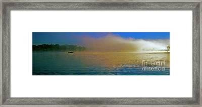 Fishing Boat Day Break  Framed Print by Tom Jelen