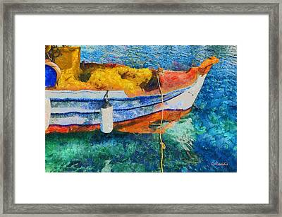 Fishing Boat Framed Print by George Rossidis