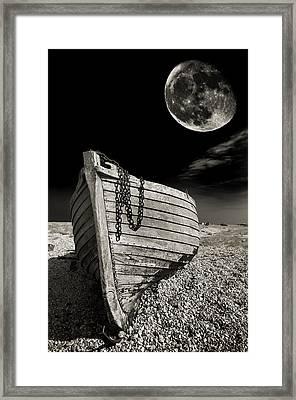 Fishing Boat Graveyard 3 Framed Print by Meirion Matthias