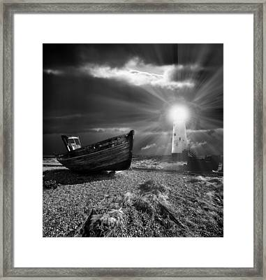 Fishing Boat Graveyard 7 Framed Print