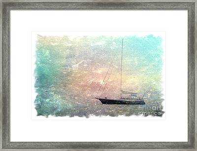 Fishing Boat In The Morning Framed Print