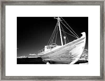 Fishing Boat Infrared Framed Print