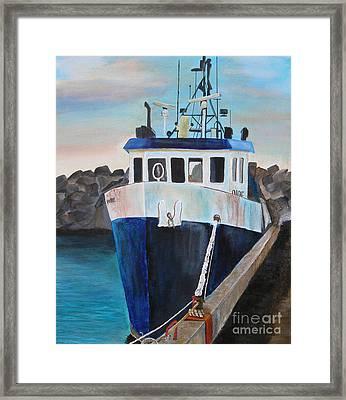 Fishing Boat  Framed Print by Jo Baby