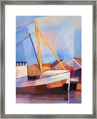 Fishing Boat Framed Print by Lutz Baar