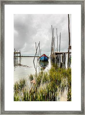 Fishing Boat Framed Print by Marco Oliveira