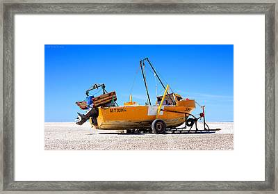 Framed Print featuring the photograph Fishing Boat by Silvia Bruno