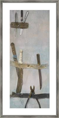 Fishing Boat Tools Framed Print by Tom Singleton