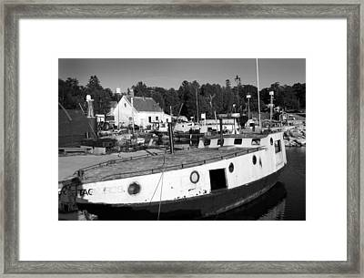 Fishing Boats - Gils Rock Framed Print by Stephen Mack