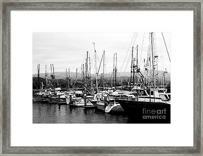 Fishing Boats . 7d8208 Framed Print by Wingsdomain Art and Photography