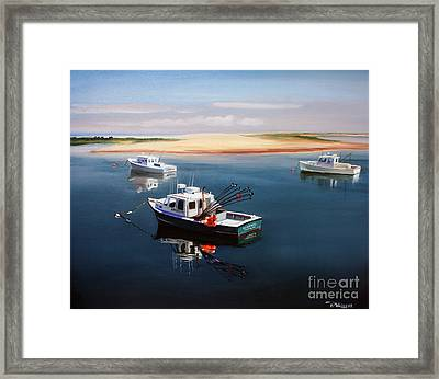 Fishing Boats-cape Cod Framed Print by Paul Walsh