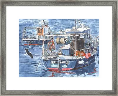 Fishing Boats In Ballycotton Framed Print