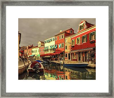 Fishing Boats In Colorful Burano Framed Print