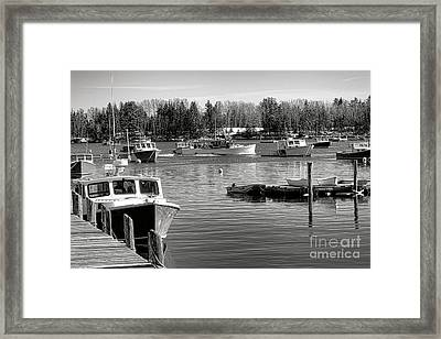 Fishing Boats In Friendship Harbor In Winter Framed Print by Olivier Le Queinec
