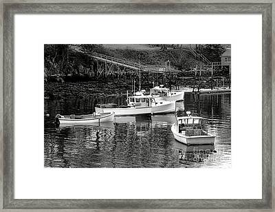Framed Print featuring the photograph Fishing Boats In Maine Port by Olivier Le Queinec