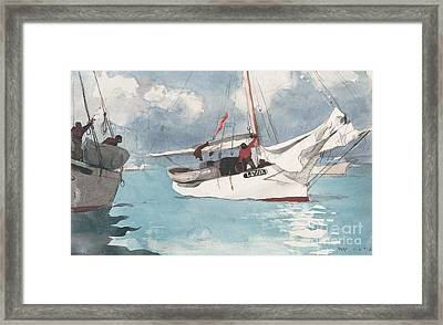 Fishing Boats, Key West, 1903 Framed Print by Winslow Homer