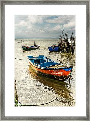 Fishing Boats Framed Print by Marco Oliveira