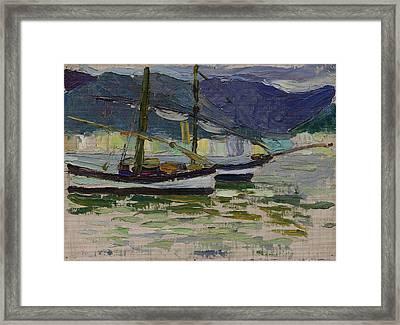 Fishing Boats, Sestri Framed Print