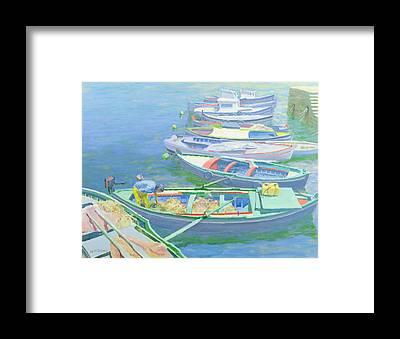 Small Boat Framed Prints