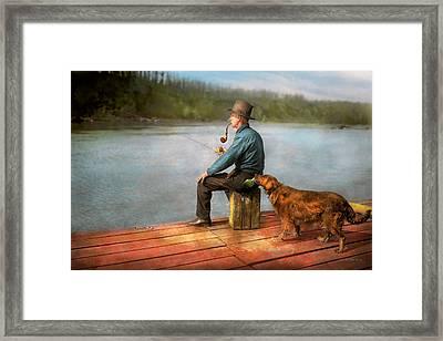 Fishing - Booze Hound 1922 Framed Print