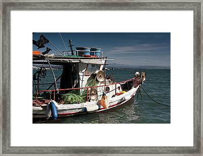 Framed Print featuring the photograph Fishing by Bruno Spagnolo